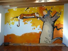 C & H freehand playroom mural, donated to the Reynold's Home, a shelter for women and children by S. Rivas