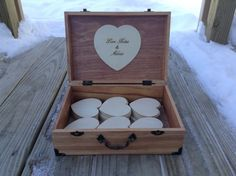 Guest Book Alternative Rustic Country Chic Wedding Wooden Suitcase Box - Personalized - Engraved