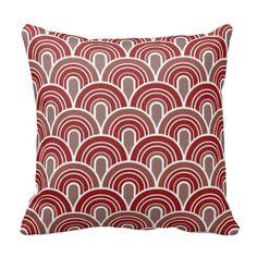 Geometric Retro Arches 2 Throw Pillow