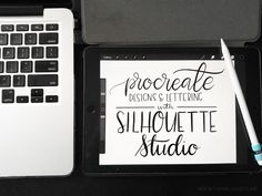 How to Use iPad Pro and ProCreate Designs with Silhouette Studio - ipad - Ideas of ipad - ipad procreate silhouette studio drawing app doodling app hand lettering app Silhouette School Blog, Silhouette Studio, Silhouette Portrait, Ipad Pro Tips, Inkscape Tutorials, Silhouette Cameo Tutorials, Affinity Designer, Ipad Art, Lettering Tutorial