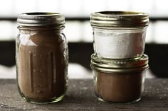 Homemade Chocolate and Vanilla No-Cook Instant Pudding Mix