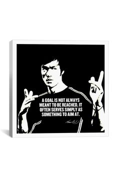 Canvas Print: Bruce Lee Quote