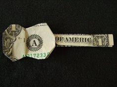 origami guitar (great idea on how to give money as a present) ~ for my nephew