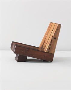 ZANINI DE ZANINE 'Trapezio' low chair, from the 'Reclaimed Woods' series, 2010 Gonçalo Alves, Maçaranduba, Ipê, Peroba, Cumaru. Produced by Atelier Zanini de Zanine, Brazil. Number 6 from the edition of 6.