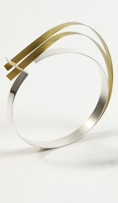Vanessar Williams, Gold Bangle Sterling Silver Anodized Titanium Loops