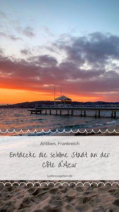 """Antibes ist eine wunderschöne Stadt in Frankreich, die sich zwischen den Touristen-Magneten Cannes und Nizza befindet. Vor allem in Frühling locken verträumte Seitenstraßen und Gässchen mit zuckersüßen Namen wie """"Rue du Petit Four"""" oder """"Rue Pasteur"""". Warum sich eine Reise im Frühling besonders lohnt verrät euch Gastbloggerin Manja auf lustloszugehen.de. #frankreich #reisetipps #cotedazur #antibes Antibes, Europe Travel Guide, Travel Destinations, Reisen In Europa, Visit France, Travel Aesthetic, Travel Agency, Beautiful Islands, Travel Essentials"""