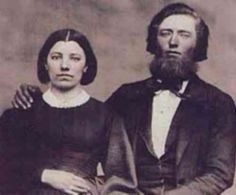 Pa and Ma Ingalls, (Caroline Quiner and Charles Ingalls) 1860.  I'm pretty sure this is their wedding picture, it was taken the year they were married