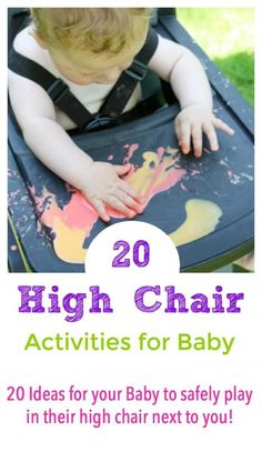 a moment to yourself? Here are 20 ideas to keep your baby entertained while they sit in their high chair next to youNeed a moment to yourself? Here are 20 ideas to keep your baby entertained while they sit in their high chair next to you Baby Sensory Play, Sensory Activities, Baby Play, Infant Activities, Learning Activities, Baby Toys, Diy Montessori, Montessori Bedroom, Montessori Toddler