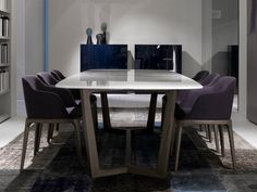 RECTANGULAR MARBLE TABLE CONCORDE CONCORDE COLLECTION BY POLIFORM | DESIGN EMMANUEL GALLINA