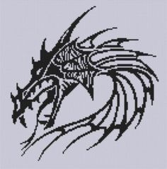 Dragon Head 3 Cross ... by Motherbeedesigns   Embroidery Pattern - Looking for your next project? You're going to love Dragon Head 3 Cross Stitch Pattern  by designer Motherbeedesigns. - via @Craftsy