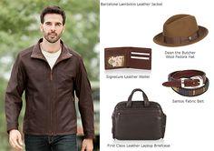 Men's Barcelona Lambskin Leather Jacket by Overland Sheepskin Co. (style 20031)