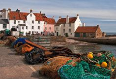 Pittenweem, a fishing port in the East Neuk of Fife, Scotland.
