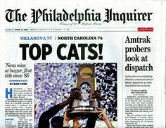 "Philadelphia Inquirer 'Top Cats"" - Villanova Wildcats National Champs"