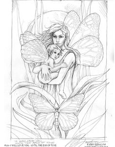 Fairy Coloring Pages For Adults | ... Fairy & Mermaid Blog: Free Fairy & Mermaid Coloring Pages by Jody