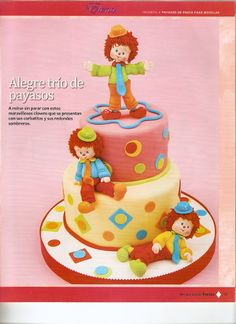 Circus Theme Cakes, Carnival Cakes, Circus Party, Themed Cakes, Carnival Ideas, Clown Cake, Cute Cakes, Gum Paste, Amazing Cakes