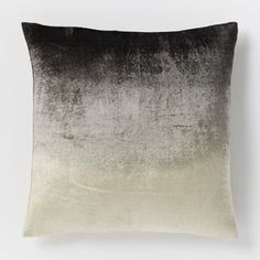 West Elm Ombre Velvet Pillow Cover - Slate