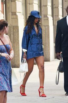 Rihanna at Alexander Wang, NYFW Spring 2014