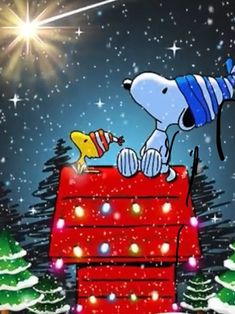Frohe Weihnachten Snoopy
