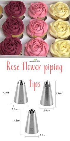 cake decorating videos Functions:These 3 Tips Are Very Useful ,For Cakes Cupcakes Decorating And Cookie Decor. These cake decorating tips are basketweave tips made of fine stainl Cupcake Decorating Tips, Cake Decorating Frosting, Frosting Tips, Cookie Decorating, Cupcake Frosting Techniques, Rose Frosting, Piping Frosting, Frosting Colors, Icing Tips