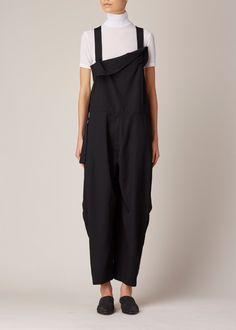 Y's by Yohji Yamamoto Salopette Jumpsuit (Black)