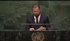 "video of Leonardo DiCaprio's speech www.youtube.com/watch?v=ka6_3TJcCkA 'Actor &environmental activist Leonardo DiCaprio addresses the UN summit meeting on climate change .. DiCaprio was recently named a United Nations Messenger of Peace. ""This disaster has grown beyond the choices that individuals make. This is now about our industries& governments,"" '97% of scientific community declared fossil fuels cause climate change& extinction of life on Earth: http://climate.nasa.gov/evidence/"