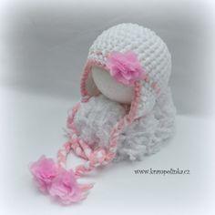 Baby hat with ear flaps for beginners · Free Crochet Patterns Krampolinka Crochet Baby Hats, Crochet Toys, Free Crochet, Ear Hats, Free Pattern, Crochet Patterns, 6 Months, 6 Mo, All Free Crochet