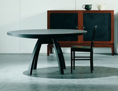 Mesa extensible redonda moderna - BRAMANTE by Enrico Tonucci - Estel