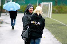 Christian Tiritiello och Madelene Göras, Goeras Football Education. På Skytteholm 4/5 2012.