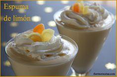 La espuma de limon es un postre refrescante y agradable que te convencerá no sólo por su fresco olor, también por su sencillez y rápida elaboración.