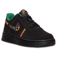 Boys' Preschool Nike Air Force 1 Casual Shoes| Finish Line | Black/Multicolor