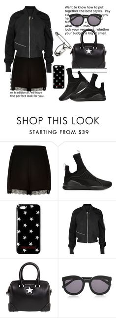 """Go Sporty..."" by hattie4palmerstone ❤ liked on Polyvore featuring River Island, Puma, Rick Owens, Givenchy, Karen Walker and Maison Margiela"
