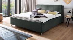 Polsterbett günstig mit Stoffbezug und Bettkasten - La Marsa