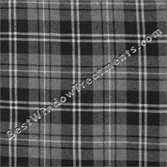 Gentlemen Plaid in Silverstone -black/gray color for curtains in office/den/man cave  window treatments