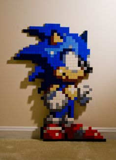 Sonic pixel sprite, by Technomancer-Prime // DeviantART #lego