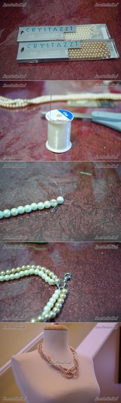 Twisted Pearl Necklace DIY-for Taylor's wedding