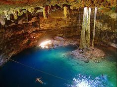 The natural wonders of the Yucatan are numerous but some of the most unusual and awe inspiring are the beautiful cenotes that are scattered throughout the peninsula. Places To Travel, Travel Destinations, Places To Visit, Merida, Cozumel, Mexico Travel, Adventure Is Out There, Natural Wonders, Beach Trip