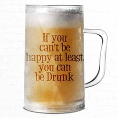 Be Drunk Frosted Glass Mug | Beer steins ideas | Beer steins ideas products | Beer steins ideas coffee mugs |