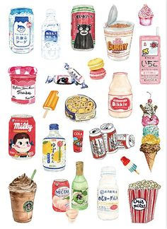 Beverage Sticker Snacks Sticker Laptop Sticker Suitcase Sticker Skateboard Stickers Decorative Sticker Gift Packaging - Laptop - Ideas of Laptop - Beverage Sticker Snacks Sticker L Food Stickers, Journal Stickers, Cute Stickers, Planner Stickers, Craft Stickers, Suitcase Stickers, Laptop Stickers, Watercolor Food, Tumblr Stickers
