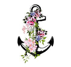 Vintage Anchor Temporary Tattoo High Quality Die by Inkweartattoos