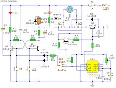 AUTOMATIC CURTAIN CLOSER Circuit with 555 Timer Circuits