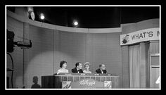 What's My Line — with Dorothy Kilgallen, Joey Bishop, Arlene Francis and Bennett Cerf.………………..For more classic 60's and 70's pics please visit & like my Facebook Page at https://www.facebook.com/pages/Roberts-World/143408802354196