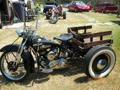 1954 harley trike cutom old skool hotrod flathead, US $6,600.00, image ...