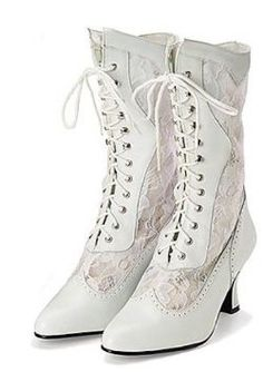 white victorian boots http://www.vintagedancer.com/victorian/victorian-womens-shoes/