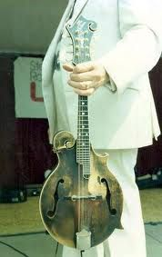 Bill Monroe..the father of bluegrass and his Gibson.