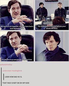 I imagine deep down sherlock is still a sad, lonely, insecure child. Great now I'm crying poor baby Sherlock Holmes Bbc, Sherlock Fandom, Sherlock John, Johnlock, Destiel, Mycroft Holmes, Mrs Hudson, 221b Baker Street, John Watson