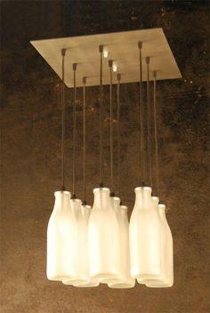 lamparas con botellas de vidrio - Buscar con Google