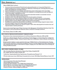 Entry-Level Assistant Principal Resume Templates | Senior Educator ...