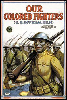 A recruitment poster for the American forces during World War I. Military Art, Military History, Ww2 Posters, Movie Posters, African Diaspora, World War One, The Great, African American History, Illustrations