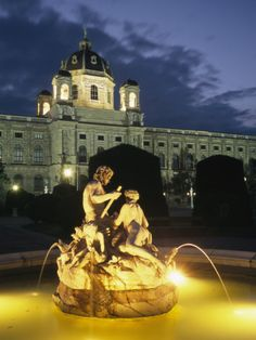 Evening in Front of the Art History Museum in Vienna, Austria History Museum, Art History, Wonderful Places, Beautiful Places, Central Europe, Museum Of Fine Arts, Study Abroad, Cool Places To Visit, National Geographic