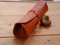 elegant leather roll see other pin for what it looks like open...